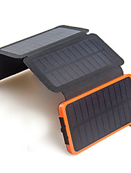 Portable Folding 6W Solar Panel 10000mAh Battery Solar Charger for Mobile Universal charger