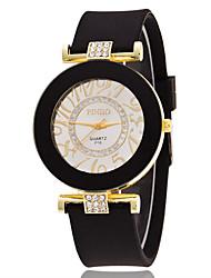 Mulheres Relógio Esportivo Relógio Elegante Relógio de Moda Relógio de Pulso Simulado Diamante Relógio Mostrador Grande Quartzo Silicone