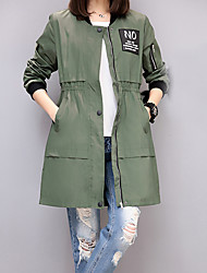 Really making 2017 spring new European leg loose long section baseball uniform green military coat loose, casual jacket
