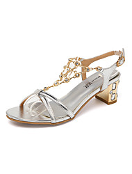 Women's Sandals Spring Summer Novelty Club Shoes Patent Leather Wedding Dress Casual Party & Evening Low Heel Chunky Heel Block Heel