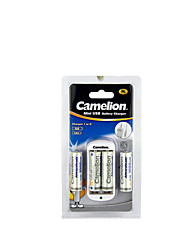 Camelion AA USB Mini Smart Charger Kit (with 1000 mAh AA Low Self-Contained Rechargeable Battery 4packs)