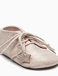Kids' Baby Flats Comfort PU Spring Summer Casual Comfort Flat Heel White Blue Blushing Pink 1in-1 3/4in