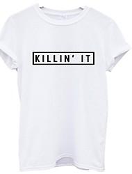 Killin it europe women&Chemises à manches courtes imprimées imprimées à l'été et à la mode