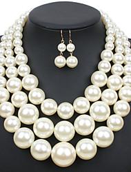 Per donna Set di gioielli Euramerican bigiotteria Perla Gioielli 1 collana 1 paio di orecchini Per Matrimonio Feste Occasioni speciali