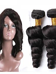 Um Pacote de Solução Cabelo Brasileiro Ondulação Larga 12 meses 3 Peças tece cabelo