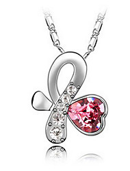 Women's Pendant Necklaces Crystal Chrome Love Heart Euramerican Fashion Jewelry For Wedding Party Birthday Congratulations 1pc
