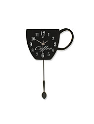 Creative Fashion DIY Coffee Cup Pendulum Mute Wall Clocks