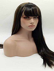 Long Straight Black To Brown Color Synthetic Wigs For Party Wigs
