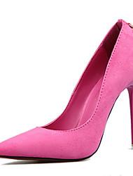 Feminino-Saltos-Conforto Sapatos clube-Salto Agulha-Fúcsia Verde Khaki Azul Real Vinho-Flanelado-Escritório & Trabalho Social Festas &