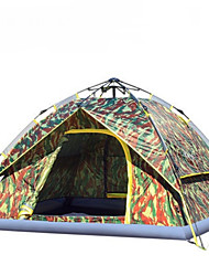 3-4 Personen Doppel Einzimmer Camping ZeltWandern Camping Reisen-Tarnfarben