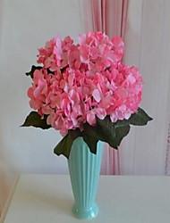 1 Rama Plástico Hortensias Flor de Mesa Flores Artificiales 30*30*44