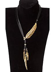 Mujer Collares Declaración Alas / Pluma Legierung Diseño Único Turco Dorado Plata Joyas Para Fiesta Diario Casual 1 pieza