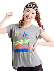 Women's Short Sleeve Running Tops Breathable Comfortable Summer Sports Wear Running Loose Fashion Solid