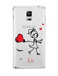 Für Transparent Muster Hülle Rückseitenabdeckung Hülle Zeichentrick Weich TPU für Samsung Note 5 Note 4 Note 3 Note 2