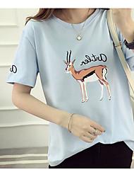 firmare 2017 nuovi cotone coreano a maniche corte t-shirt in cotone donne 95,6 spandex 4.4
