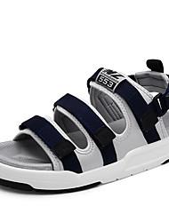 Men's Sandals Summer Gladiator Fabric Outdoor Casual Flat Heel Buckle
