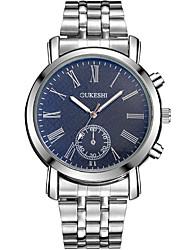 Masculino Relógio Elegante Relógio de Moda Relógio Casual Chinês Quartzo Aço Inoxidável Banda Legal Casual Prata Branco Azul