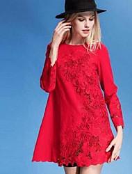 mulheres&# 39; s perna europeia de bordado a céu aberto bordado vestido de renda um vestido Europa