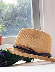 Mujer Primavera Casual Mezcla de Algodón Sombrero de Paja,Un Color