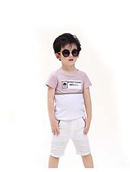 T-Shirt Lässig/Alltäglich Einfarbig Baumwolle Sommer