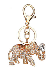 Key Chain Elephant Key Chain Red White Blue Metal