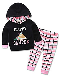 Girl Baby Sets Cotton All Seasons Spring Fall Long Sleeve Clothing kids Hoodie Sports shirt Set