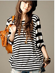 Damen Solide Einfach Ausgehen T-shirt,Rundhalsausschnitt Langarm Seide