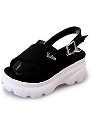 Mulheres sandálias verão creepers velo outdoor vestido casual fivela caminhada