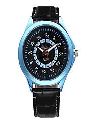 Masculino Relógio de Moda Quartzo Silicone Banda Casual Preta Branco Preto Azul