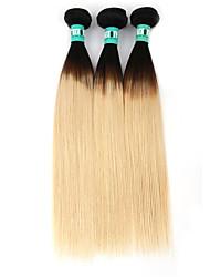 Âmbar Cabelo Brasileiro Retas 3 Peças tece cabelo