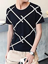 Diagonale Streifen gedruckt Männer&# 39; s kurz-sleeved T-Shirt-Boden-Hemd Wind Aberdeen