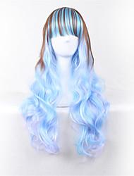 Cosplay wag 28-Zoll-Himmel blauen Gradienten lockigen Haar Perücken