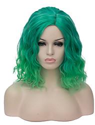 moda europeus e americanos diariamente pequenos puros e frescos e verdes macarrão gradiente instantâneas partido cos peruca 1890