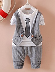 Boys' Casual/Daily School Solid Sets,Polyester Summer Spring Clothing Set