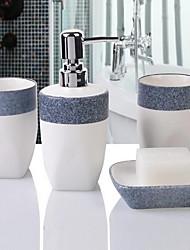 Simple Bathroom Accessory Set Ceramic /Contemporary