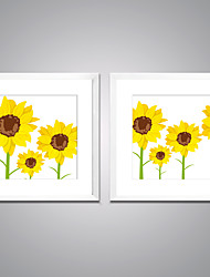 Framed Art Print Leisure Floral/Botanical Modern,Two Panels Canvas Square Print Wall Decor For Home Decoration