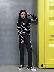 assinar selvagem fita de costura calça jeans fina bordas retas calças desportivas reais