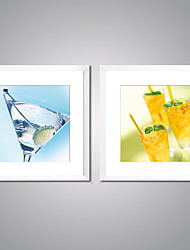 Framed Canvas Prints Limon Drinks Picture Print Modern Canvas Art with White Frame  for Wall Decoration
