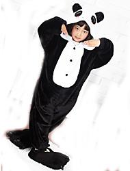 Kigurumi Pijamas Panda Collant/Pijama Macacão Chinelos Festival/Celebração Pijamas Animais Dia das Bruxas Patchwork Velocino de Coral