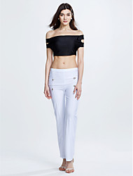 Women's Off The Shoulder|Wide Leg Party Sexy Street chic Tank Top Pant Solid Off Shoulder Short Sleeve
