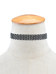 Women's Choker Necklaces Rhinestone Lace Rhinestone Single Strand Rhinestone Euramerican Fashion Personalized Jewelry Daily Casual 1pc