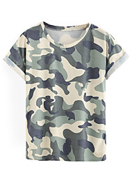 2017 explosion models in Europe and America in camouflage short sleeve T