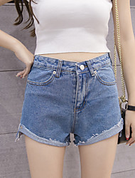 signer un short de curling coréenne sauvages version coréenne de la nouvelle grande taille haute taille pantalon jambe large short denim