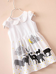 Girl's Going out Animal Print Dress,Cotton Summer Sleeveless