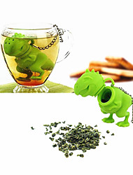 New Silicone Dinosaur Tea Infuser Loose Leaf Strainer Herbal Filter Diffuser(Random Color)