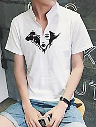 Slim femme tête imprimée à manches courtes t-shirt homme vent aberdeen