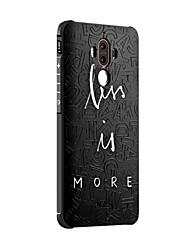 Pour Antichoc Dépoli Relief Motif Coque Coque Arrière Coque Mot / Phrase Flexible Silicone pour HuaweiHuawei Honor 6X Huawei Mate 9