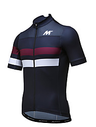 MYSENLAN® Cycling Jersey Men's Short Sleeve Bike Breathable Quick Dry Jersey Polyester Fashion Summer Cycling/Bike