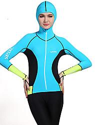HISEA® Mulheres Roupas de mergulho Anti-Irradiação Neoprene Fato de Mergulho Manga Comprida Roupas de Mergulho-Natação Mergulho Surfe