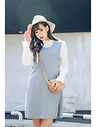 Sign Famous spring new simple strap dress
